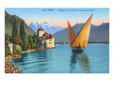 Chillon Castle, Lake Geneva, Switzerland Posters