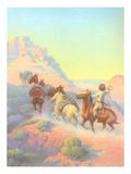 Navajo Boy Herding Pack Horses Prints