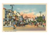 Bay Street, Nassau, Bahamas Prints