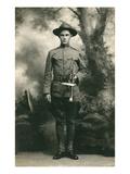Doughboy with Bugle, World War I Print
