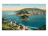 View of San Sebastian Harbor, Spain Posters