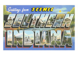 Greetings from Scenic Southern Indiana Poster