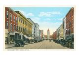 Exchange Street, Bangor, Maine Prints