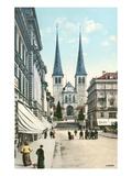 Street Scene, Lucerne, Switzerland Art