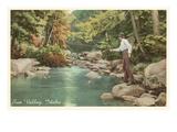 Creek Fishing, Sun Valley, Idaho Prints