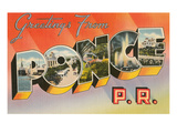 Greetings from Ponce, Puerto Rico Prints