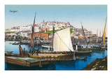 Boats in Tangiers Bay, Morocco Prints