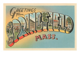 Greetings from Springfield, Massachusetts Prints