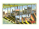 Greetings from Michigan City, Indiana Art