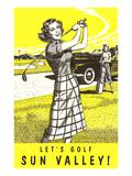 Let's Golf Sun Valley, Idaho Prints