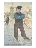 Peasant Boy on Ice Skates, Holland Posters
