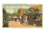 Scene on Olvera Street, Los Angeles, California Print