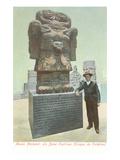 Coatlicue Statue, Aztec Goddess Prints