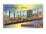 Greetings from Hammond, Indiana Prints
