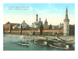 View of Moscow and the Kremlin, Russia Prints