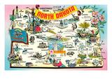 Greetings from North Dakota Posters