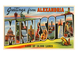 Greetings from Alexandria, Minnesota Posters