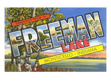 Greetings from Freeman Lake, Monticello, Indiana Prints
