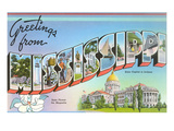 Greetings from Mississippi Prints