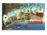 Greetings from Antioch, Illinois Posters
