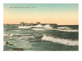 Surf Scene, Hampton Beach, New Hampshire Prints