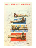 Bathing Beauties, White Bear Lake, Minnesota Prints