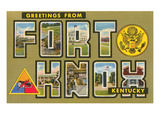 Greetings from Fort Knox, Kentucky Prints