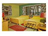 Fifties Motel Room Interior Posters