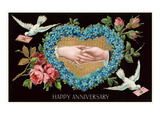 Old Fashioned Happy Anniversary Prints
