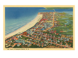 Overview of Hampton Beach, New Hampshire Posters