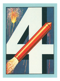 Big Four, July Fourth, Rocket Print