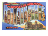 Greetings from Indianapolis, Indiana Print