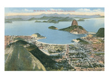 View from Corcovado, Rio De Janeiro, Brazil Posters