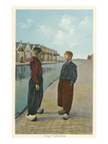 Two Dutch Boys, Volendam Canal Posters