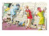 Cats at Card Store Poster