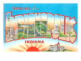Greetings from Indianapolis, Indiana Posters