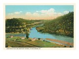 River Junction, High Bridge, Kentucky Posters