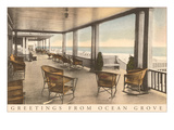 Greetings from Ocean Grove, New Jersey, Veranda Prints