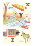 Learning the Alphabet, X, Y and Z Posters