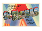 Greetings from St. Thomas, Virgin Islands Affischer
