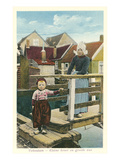 Early Scene, Volendam, Holland Affiche