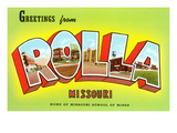 Greetings from Rolla, Missouri Prints