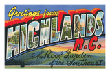Greetings from Highlands, North Carolina Posters