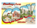 Greetings from Gary, Indiana Posters