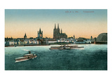 Overview of Cologne on the Rhine, Germany Affiche