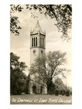 Campanile, Iowa State College Prints
