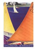 Sailing, Stillwater, Minnesota Prints