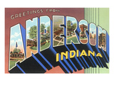 Greetings from Anderson, Indiana Poster
