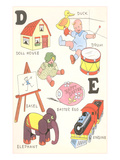 Learning the Alphabet, D and E Art