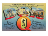 Greetings from Don Q, Ponce, Puerto Rico Posters